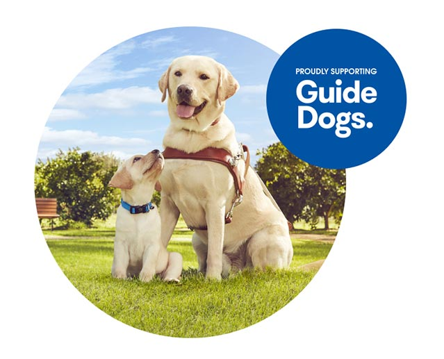 Proudly supporting guide dogs