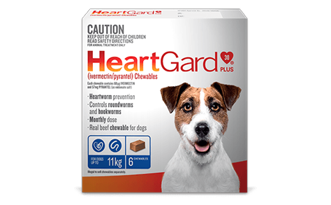HeartGard product shot up to 11kg